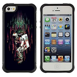 Hybrid Anti-Shock Defend Case for Apple iPhone 4s 4s Real Men Have Bacon Beards