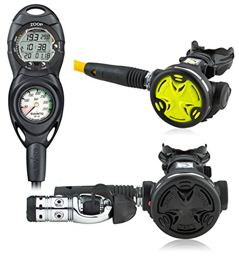 AERIS Seac Primary Scuba Regulator with Backup Dive Buddy Octo and Suunto Zoop Computer Console Scuba Regulator Package