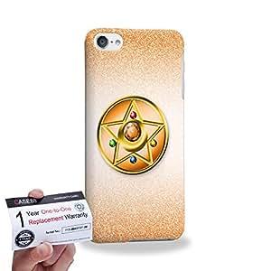 Case88 [Apple iPod Touch 6] 3D impresa Carcasa/Funda dura para & Tarjeta de garantía - Sailor (Series Moon) Venus Compact Case