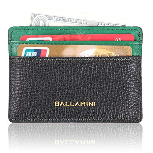Credit Card Case,Ballamini Adult Leather Wallet ID Card Case Sleeve Card