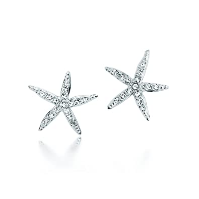 44fe8a24d Image Unavailable. Image not available for. Color: MYJS Holly Starfish  Rhodium Plated Stud Earrings with Swarovski Crystals