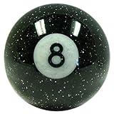 American Shifter 53781 Black 8 Ball Shift Knob with Metal Flakes