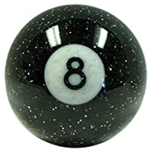 American Shifter 53781 Black 8 Ball Shift Knob with Metal Flakes
