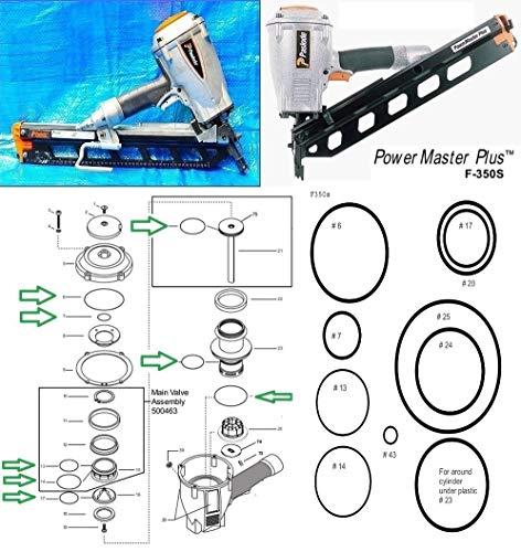 O-Ring Rebuild Kit for F350s Powermaster Plus Paslode Framing - O-ring Nailer