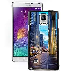 NEW Unique Custom Designed Samsung Galaxy Note 4 N910A N910T N910P N910V N910R4 Phone Case With Chicago Streets_Black Phone Case