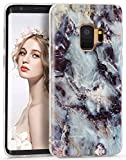 Galaxy S9 Case Marble,Imikoko Samsung Galaxy S9 Glossy Slim Fit Soft TPU Case Cover Rubber Silicone Skin Bumper Shockproof Protective Case for Samsung Galaxy S9 5.8 Inch