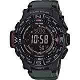 Watches : Casio Men's 'PRO TREK' Tough Solar Powered and Stainless Steel Watch, Color:Green (Model: PRW-3510Y-8CR)