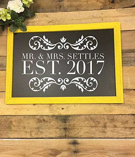 Wedding Chalkboard Sign Bar Menu Welcome To Our