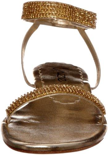 Sandalias de para cuero Unze mujer Dorado aPvqpw