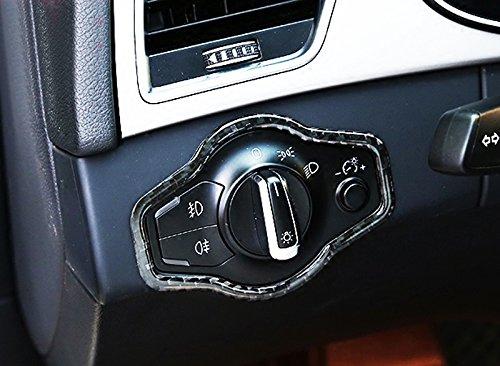 Amazon.es: 2008 - 2015 para Audi Q5 8R frontal interior lámpara de cabeza luz tapa del interruptor de fibra de carbono