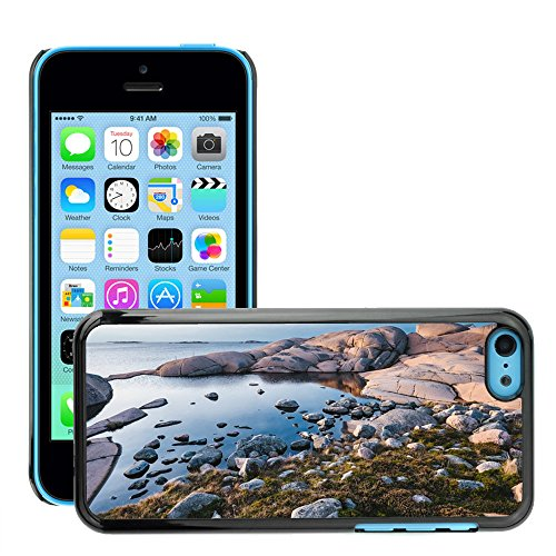 Stampato Modelli Hard plastica Custodie indietro Case Cover pelle protettiva Per // M00421571 Pierres Rocks Ocean Water Nature // Apple iPhone 5C