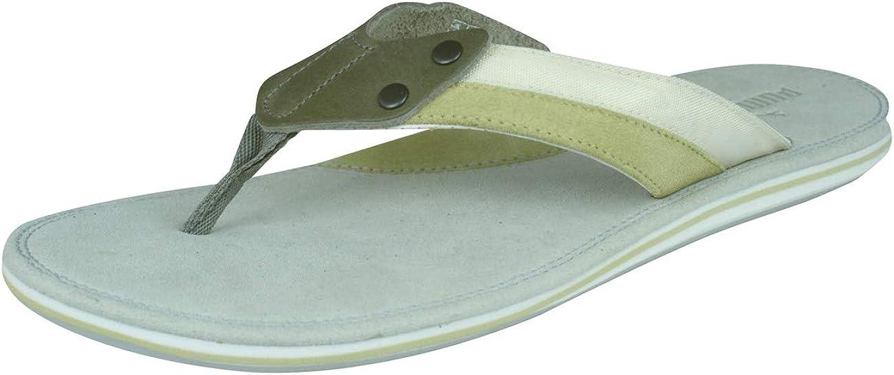 puma leather flip flops