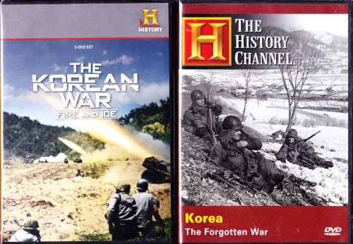 (The History Channel Korean War Collection : Korea The Forgotten War , The Korean War Fire And Ice : 5 Episodes : 3 DVD SET : 300 Minutes)