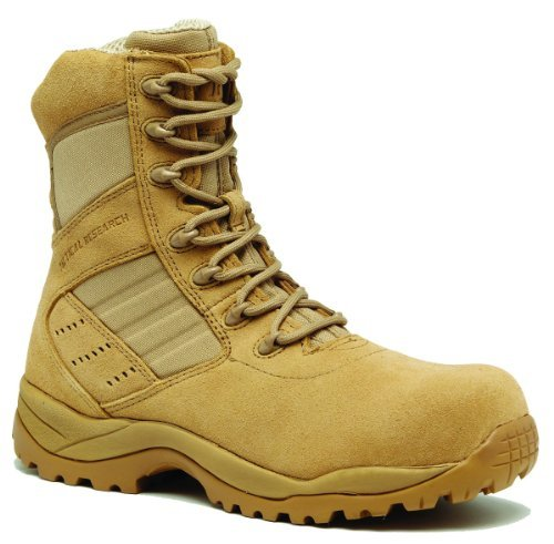 - Tactical Research by Belleville Men's Guardian Hot Weather Lightweight Composite Toe Boot Tan 10 W