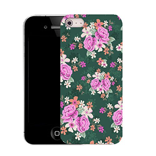Mobile Case Mate IPhone 4s clip on Silicone Coque couverture case cover Pare-chocs + STYLET - traditional flower pattern (SILICON)