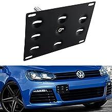 Dewhel Front Bumper Tow Hook License Plate Mount Bracket Holder For Volkswagen MK6 2010-2014 Golf