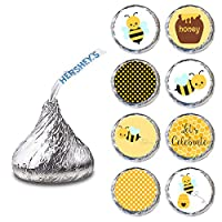 Bumble Bee Label for HERSHEY'S KISSES® chocolates - Birthday Baby Shower Party Stickers - Set of 240