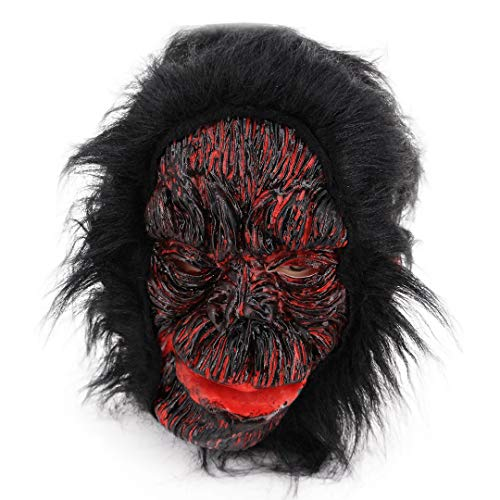 Novia's Choice Unisex Latex Gorilla Head Mask for Halloween Cosplay Horro Party Prop(Style A) -