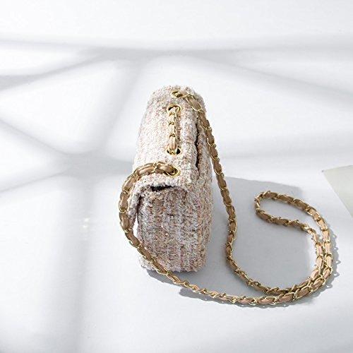 Pink Handbag Mini Bags Gmyandjb Plaid 20 Quilted Flap Black Chain Tweed Shoulder Ladies Women Bag Corssbody Luxury wxxqvZXF
