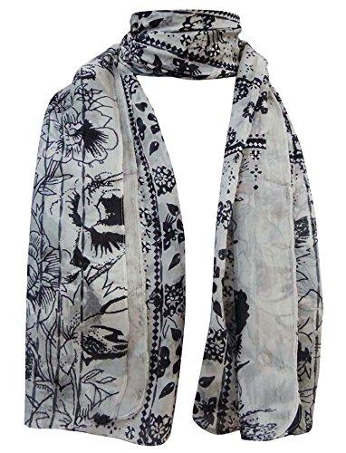 Pura Mant Mujeres Impreso Resumen seda Aboutyou de Hijab Bufandas bufanda de EZvPqz