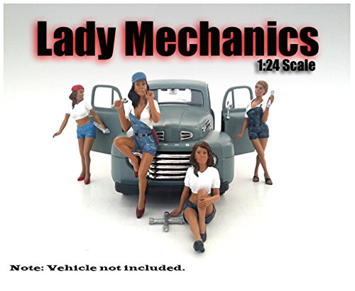"""""""Lady Mechanics"""" 4 Piece Figure Set For 1:24 Scale Models by American Diorama 23959-23960-23961-23962"""