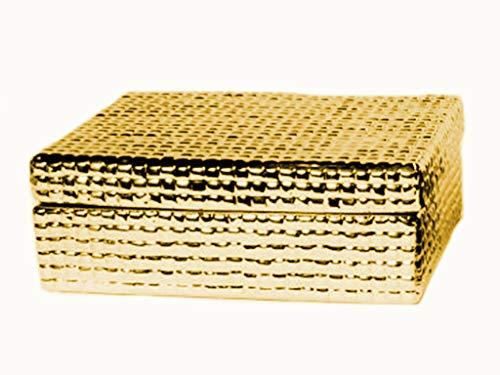 Caixa Retangular Dourada Sarquis Samara Ouro
