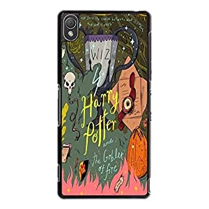 Hybird Colorful World Harry Potter Phone Case Cover for Sony Xperia Z3 HP Logo Custom Design