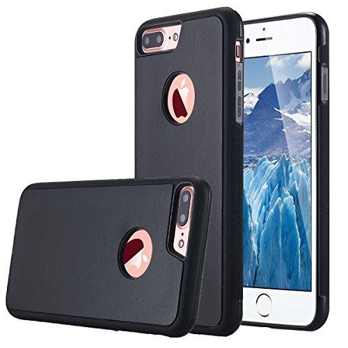 Coque Anti-gravité pour IPhone 6 plus , Coque Iphone 6S plus, anti-gravité nano-collant magique du portable, couleur Noir