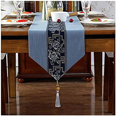 Caminos de mesa Mesa Corredor Chino Zen Mesa de Comedor borlas ...