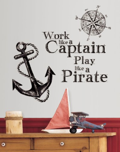 RoomMates-RMK2320GM-Work-Like-A-Captain-Quote-Peel-and-Stick-Wall-Decals