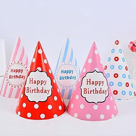 Outflower - Juego de 10 gorros de cumpleaños con diseño de ...