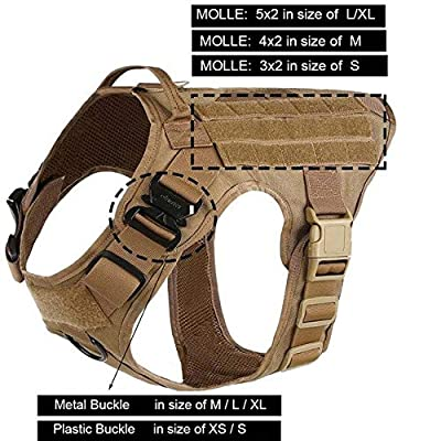 Kbj-accessory Pull Front Clip Law Enforcement Working Cannie Hunting Molle Vest - Coyote Brown, L Chest 28 to 35in