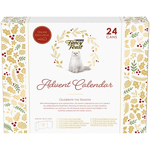 Purina Fancy Feast Limited Edition Wet Cat Food Variety Pack, Feastivities Advent Calendar – (24) 3 oz. Cans (Now…