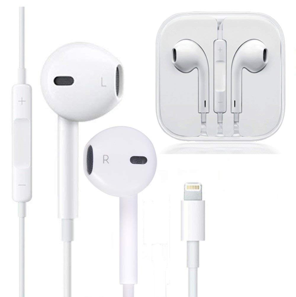 Earbuds, Microphone Earphones Stereo Headphones Noise Isolating Headset Fit Compatible with iPhone Xs XR XS Max iPhone 7 7 Plus iPhone 8 8Plus iPhone X Earphones 1 Pack