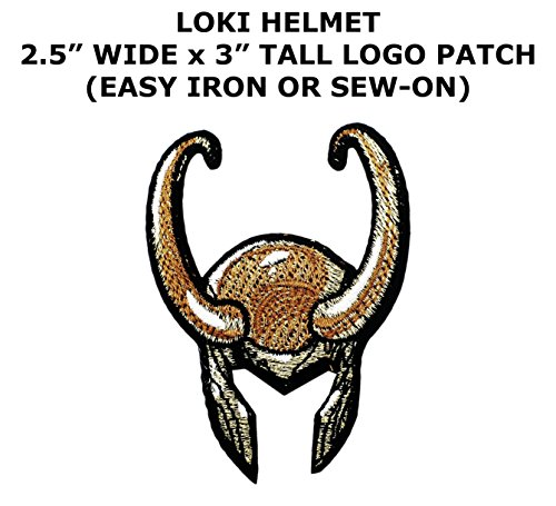 Loki Helmet Superhero Superheroes Theme Dc Marvel Comics Cartoon Movie Films Cosplay Diy Decorative Embroidered Iron Or Sew On Patch By Us Family Brand