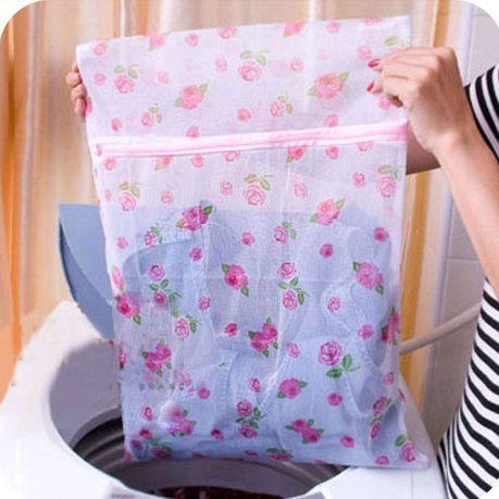 Stocking Underwear Hosiery Bra 30cmx40cm Travel Laundry Bag Fine Mesh Laundry Bags for Blouse Assorted Patterns Delicate and Lingerie 5 Pack