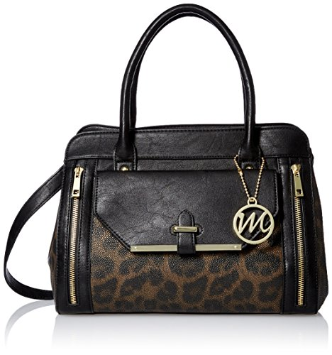 emilie-m-day-to-evening-set-vicky-satchel-clutch-top-handle-bag-black-leopard-one-size