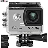 SJCAM SJ5000X Elite WiFi 4K 24fps 2K30fps Gyro Sports DV 2.0 LCD NTK96660 Diving 30m Waterproof Action Camera Silver+ Extra 1 Battery