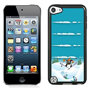 Beautiful Unique Designed iPod Touch 5 Phone Case With Winter Sports Plants Vs Zombies Homescreen_Black Phone Case