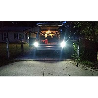 ENDPAGE 3157 3156 3057 3056 LED Bulb 2-pack, Xenon White 6000K, Extremely Bright, 21-SMD with Projector Lens, 12-24V, Works as Back Up Reverse Lights,  Brake Tail Lights, Turn Signal Blinkers: Automotive