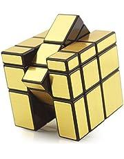 HJXDtech-Shengshou Unregelmäßige Zauberwürfel 3x3x3 Mirror Magic Cube Professionelle Glatte Racing Würfel (Gold)