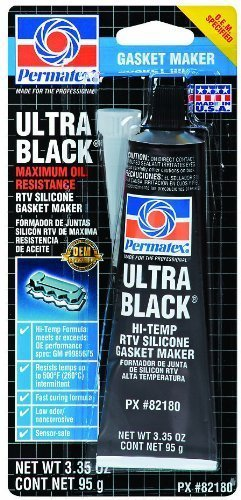 Permatex 82180 Ultra Black Maximum Oil Resistance RTV Silicone Gasket Maker, 3.35 oz. Tube, 2 Pack Size: 3.35 Ounce ( 2 Pack ) Model: Car/Vehicle Accessories/Parts by Auto & Car Acc