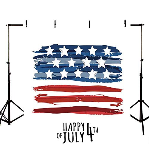4th of July Decor Stylish Backdrop,Celebrating Background with Charming Stars Memorial Historic Digital Print for Photography,118