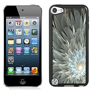 NEW Fashion Custom Designed Cover Case For iPod 5 Fractal Flower Black Phone Case