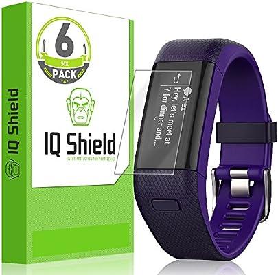 Garmin Vivosmart HR+ Screen Protector, IQ Shield LiQuidSkin [6-Pack] Full Coverage Screen Protector for Garmin Vivosmart HR+ [Garmin Approach X40] HD Clear Anti-Bubble Film - with