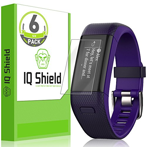 IQ Shield Screen Protector Compatible with Garmin Vivosmart HR+ [Garmin Approach X40] [6-Pack] LiquidSkin Anti-Bubble Clear Film