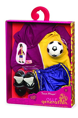 Our Generation Dolls Team Player Doll Soccer Outfit, 18' 18 Lite Hawk BD30134Z