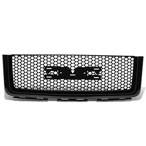 For GMC Sierra Denali ABS Plastic Round Mesh Front Bumper Grille (Black) - 2nd Gen GMT900/902 - Gmc Grill