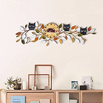 HGTYU-Die alten Mauern Wanduhr hängende Ornamente Stereoanlage ...