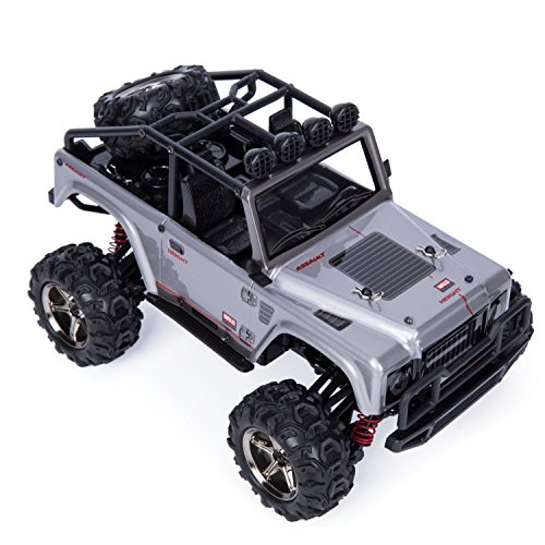 Awaytoy RC Jeep RC Car Off Road 4WD 2.4GHz Radio Control 1:22 Scale Hobby Truck Silver Gray (Gas Rc Motorcycle)